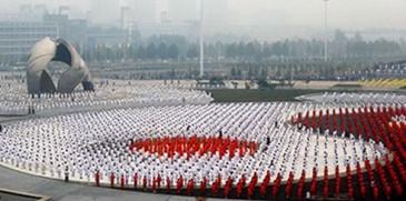50 հազար չինացիների միաժամանակյա մարզանք են կատարել