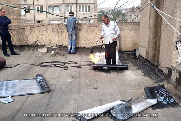 Ջրամեկուսացման և վերելակների հորանների նորոգման աշխատանքներ` Մալաթիա-Սեբաստիա վարչական շրջանում (լուսանկարներ)