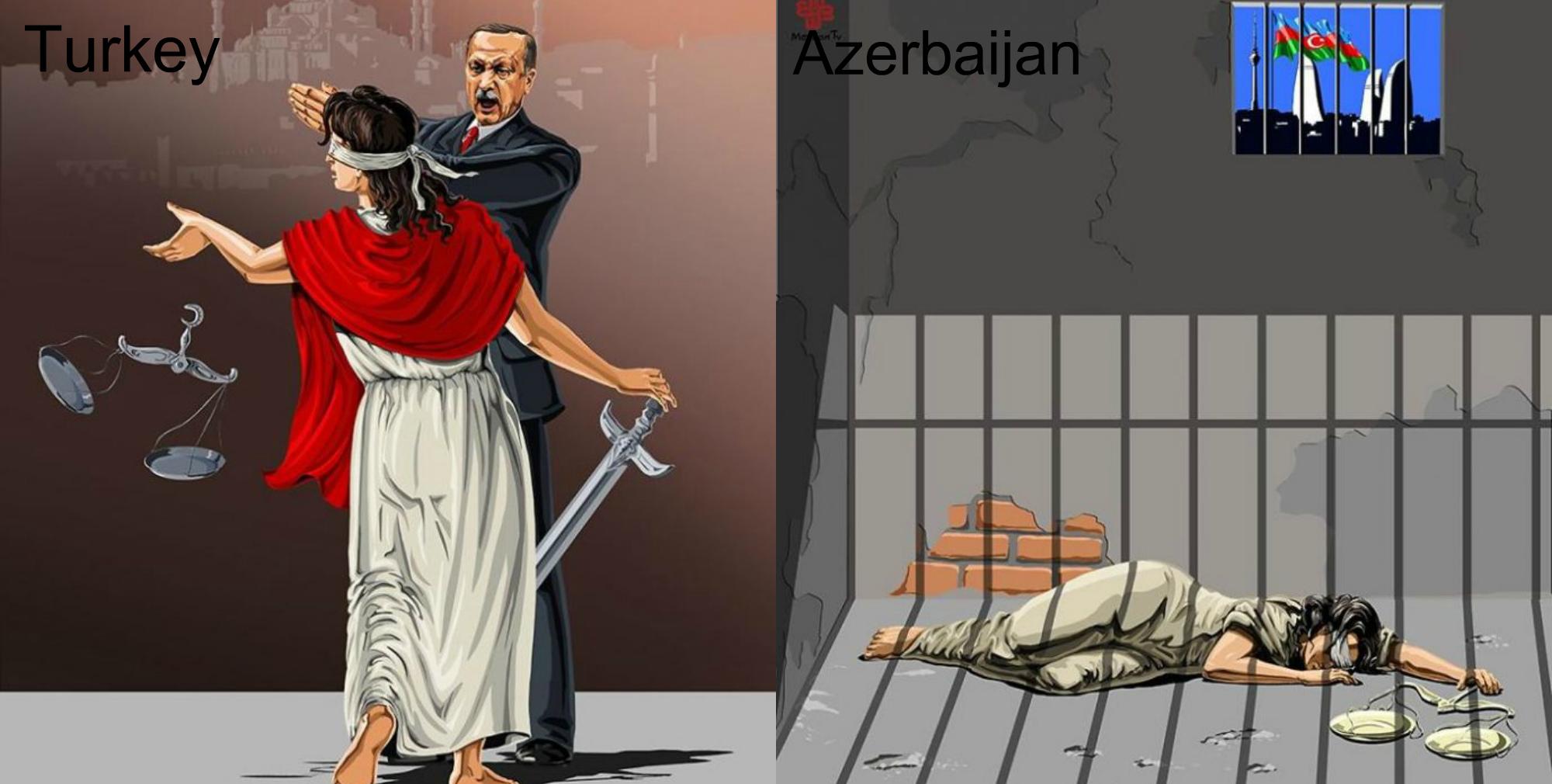 Իլուստրացիաներ այն մասին, թե ինչպես են տարբեր երկրների առաջնորդներ տեսնում արդարությունը