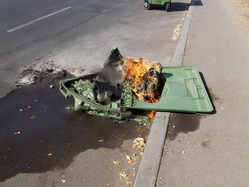 Երևանում կրկին աղբաման են այրել