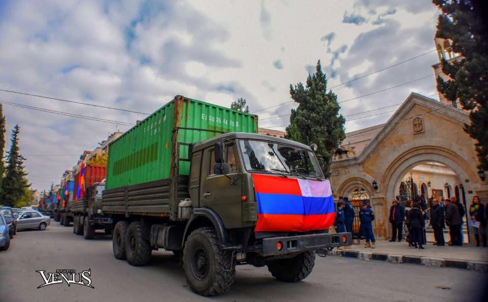 ՌԴ Կրասնոդարի հայ համայնքի կողմից Սիրիայի հայ համայնքի համար հավաքագրված շուրջ 80 տոննա հումանիտար օգնության բեռը հասել է Հալեպ