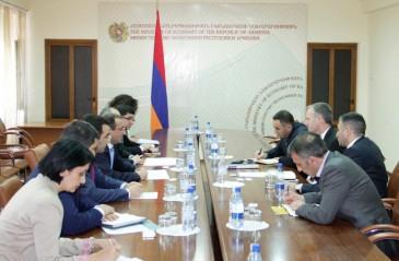 ՀՀ էկոնոմիկայի նախարարն ընդունել է Ասիական զարգացման բանկի հայաստանյան գրասենյակի տնօրենին