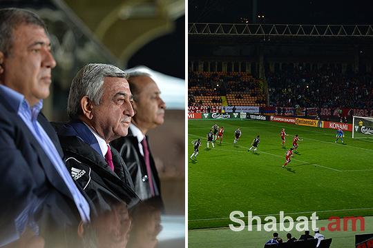 Սերժ Սարգսյանը դիտել է Հայաստան-Ալբանիա ֆուտբոլային խաղը