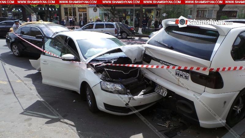 Շղթայական վթար Երևանում. 5 մեքենա բախվել է իրար