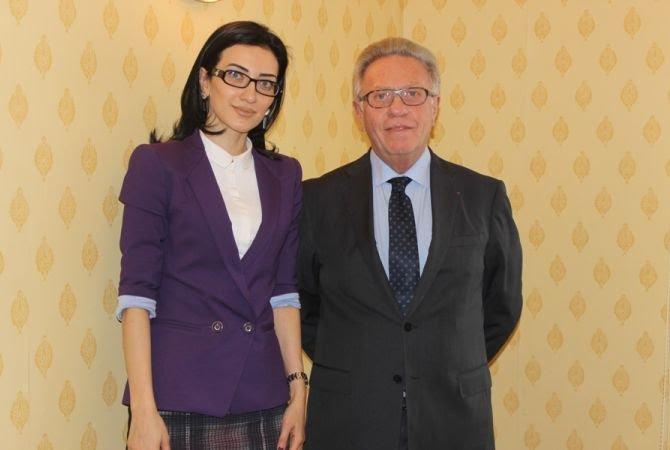 Արփինե Հովհաննիսյանը Վենետիկի հանձնաժողովի նախագահին է ներկայացրել ԸՕ նախագծի շուրջ շահագրգիռ կողմերի հետ քննարկումների ընթացքը