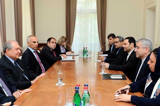 Արմեն Սարգսյանն ընդունել է Իրանի էներգետիկայի նախարարի գլխավորած պատվիրակությանը