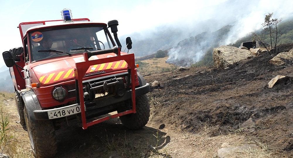 Գեղարքունիքի մարզի Գավառ քաղաքում բեռնատարը կողաշրջվել է