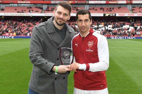 Հենրիխ Մխիթարյանը ստացել է «Արսենալի» ամսվա լավագույն ֆուտբոլիստի մրցանակը