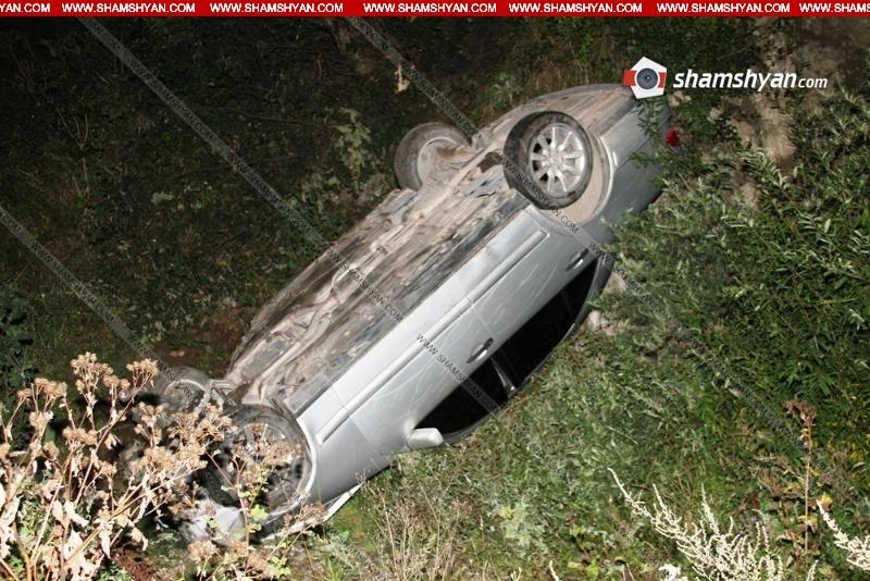 Խոշոր վթար Լոռու մարզում. մեքենան հայտնվել է ձորում