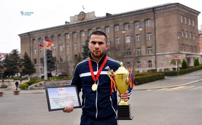 Արցախցի մարզիկը`ArmFC-18 մրցաշարի հաղթող. նա իր հաղթանակը նվիրել է ապրիլյան պատերազմի զոհերի հիշատակին