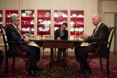 Սերժ Սարգսյանը Վաշինգտոնում հանդիպում է ունեցել ԱՄՆ փոխնախագահ Ջոզեֆ Բայդենի հետ