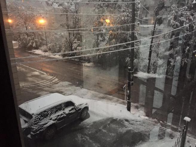Քաջարանում առաջին ձյունն է տեղացել. (լուսանկար)