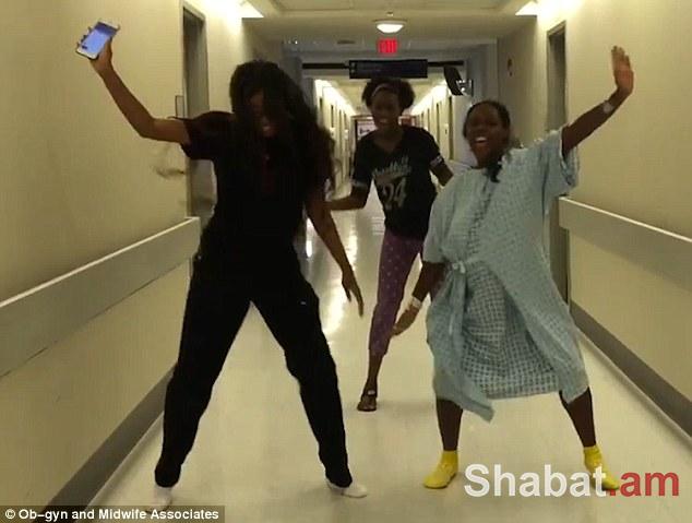 Հիվանդանոցում կինը պարում է՝ հղիության ցավերին դիմանալու համար (տեսանյութ)