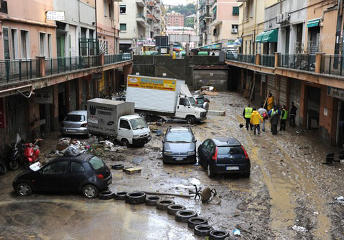 Իտալիայում ջրհեղեղի հետեւանքով 5 մարդ է զոհվել