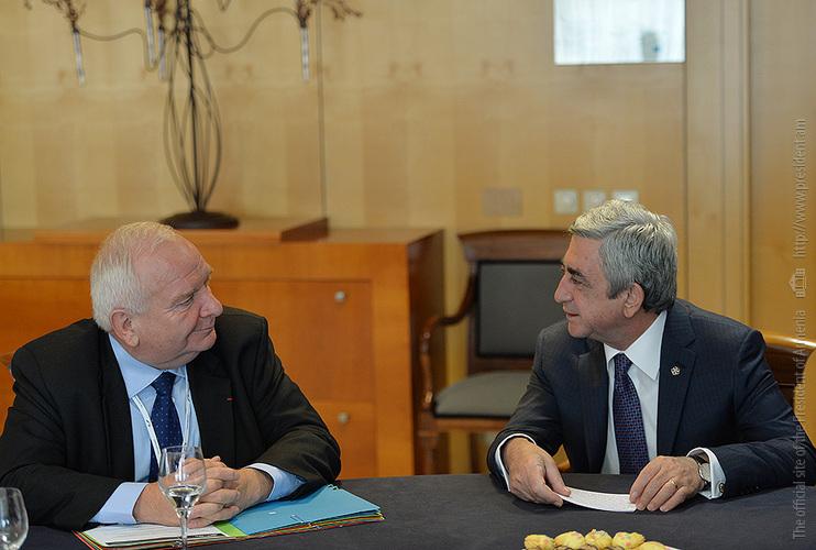 Նախագահ Սերժ Սարգսյանը հանդիպում է ունեցել ԵԺԿ նախագահ Ժոզեֆ Դոլի հետ (լուսանկարներ)
