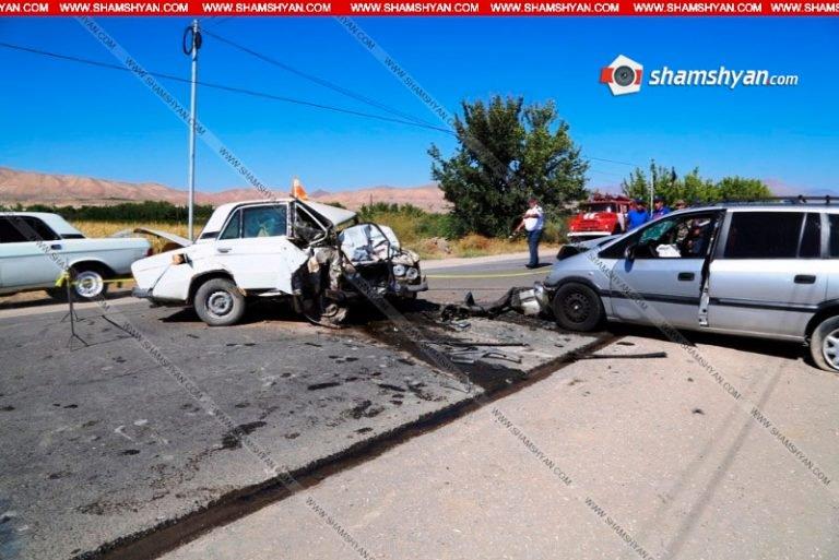 Վեդի-Երևան ավտոճանապարհին «Օպելի» կին վարորդը բախվել է «06»-ին. 2 մարդ մահացել է
