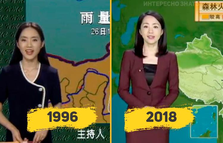 Չինաստանում եղանակի տեսության հաղորդավարուհին արդեն 22 տարի է՝ արտաքնապես չի փոխվում (լուսանկարներ)