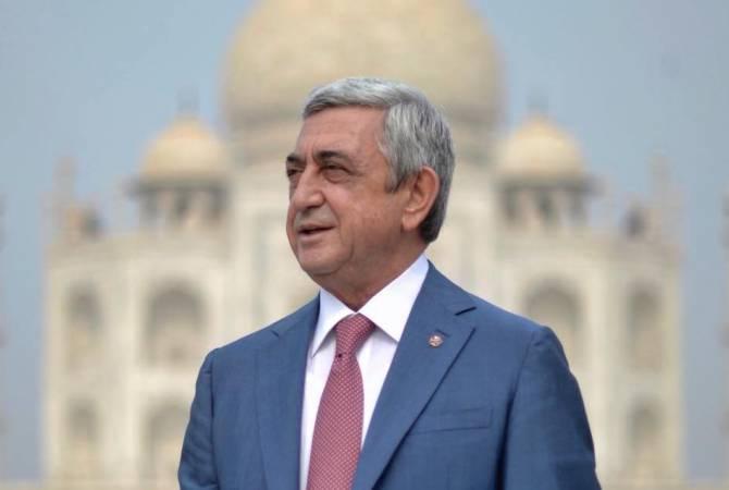 Սերժ Սարգսյանը շնորհավորել է Արմեն Սարգսյանին հոբելյանի առիթով