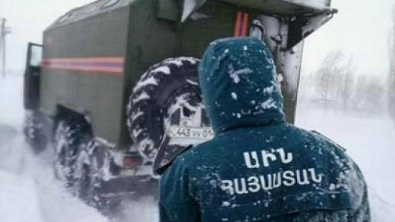 Ձյան մեջ արգելափակված մեքենաների վերաբերյալ ահազանգեր են ստացվել