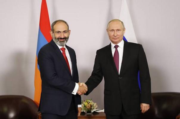 Վլադիմիր Պուտինը Նիկոլ Փաշինյանի հետ հանդիպմանն ընդգծել է Հայաստանի հետ առևտրաշրջանառության աճի կարևորությունը