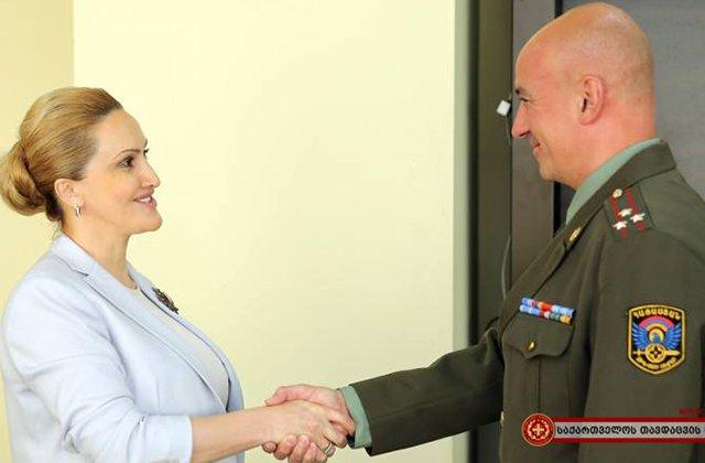 Վրաստանի պաշտպանության նախարարի առաջին տեղակալն ընդունել է ՀՀ նորանշանակ ռազմական կցորդին