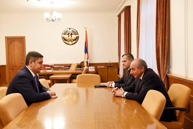 Բակո Սահակյանն ընդունել է ՀՀ ԱԱԾ տնօրեն Արթուր Վանեցյանին