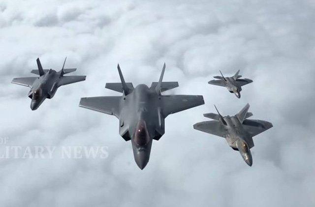 Հրապարակվել է F-22-ի և F-35-ի «օդային մարտի» տեսանյութը