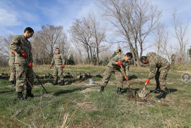 Զինծառայողները նույնպես մասնակցել են համապետական շաբաթօրյակին