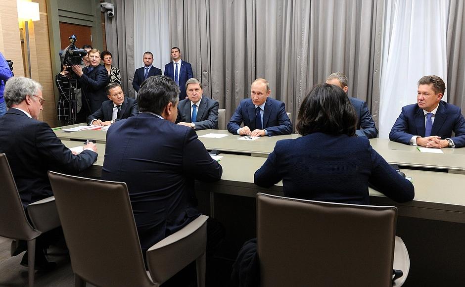 Путин встретился с вице-канцлером ФРГ