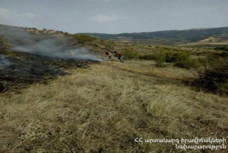 Արագածի ուղեկալի տարածքում մոտ 25 հա խոտածածկույթ և էլեկտրական ենթակայան է այրվել