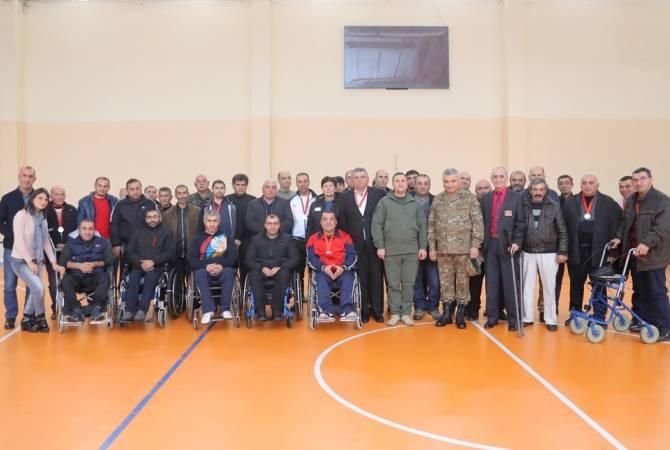 Զինհաշմանդամները ՀՀ ՊՆ վարչական համալիրում մասնակցել են մարզական միջոցառման