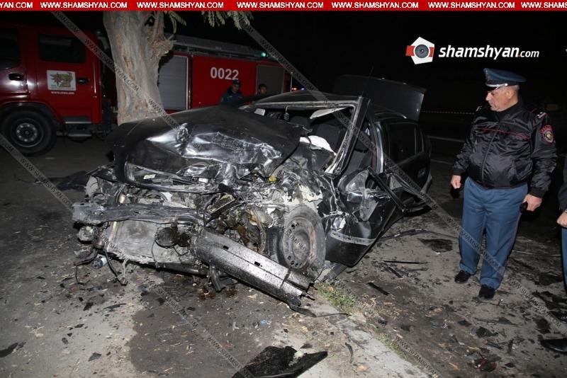 Խոշոր ավտովթար Երևանում. կա զոհ և վիրավորներ