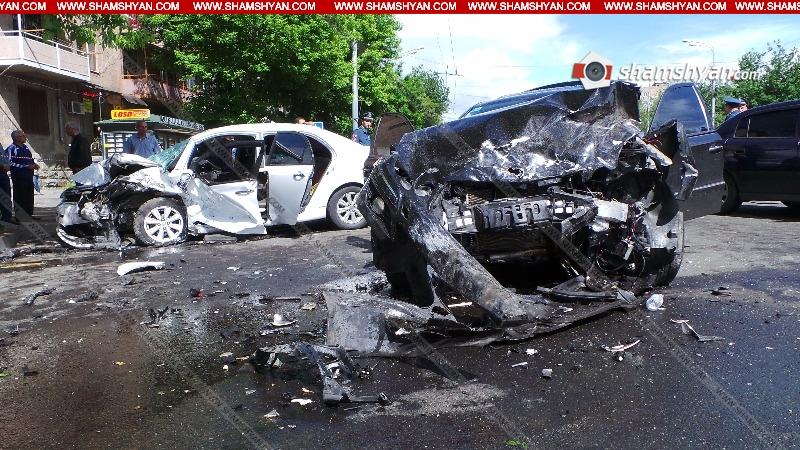 Բացառիկ տեսանյութ՝ Երևանում տեղի ունեցած խոշոր ու ողբերգական ավտովթարից
