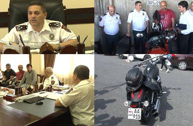 Ճանապարհային ոստիկանության պետի հանդիպումը մոտոցիկլավարների հետ
