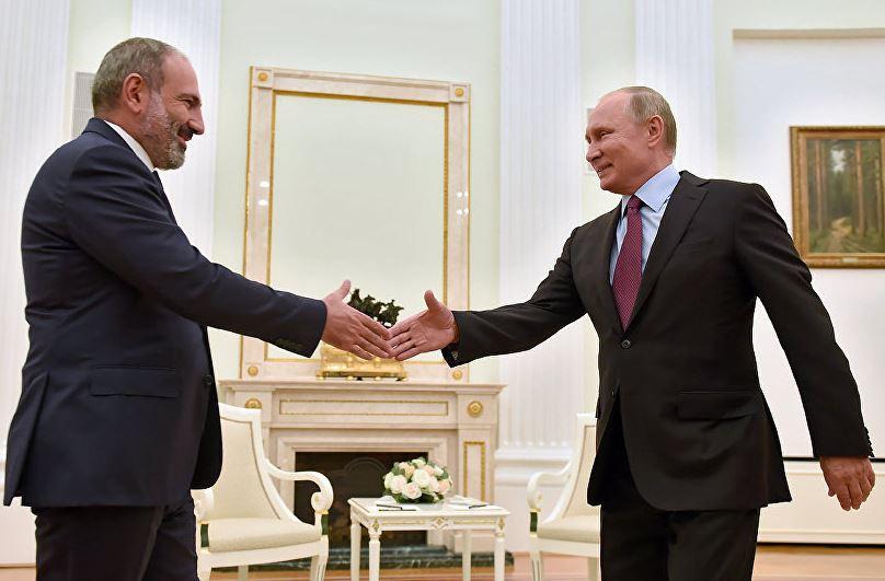 Պուտինը Փաշինյանին շնորհավորել է Հայաստանի վարչապետի պաշտոնում նշանակվելու առթիվ