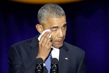 Բարաք Օբաման իր հրաժեշտի ելույթում հուզվեց դիմելով կնոջը՝ Միշել Օբամային
