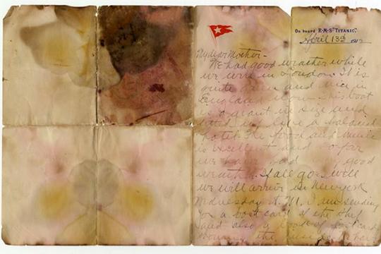«Տիտանիկում» զոհված ուղևորի նամակը վաճառվել է 166 հազար դոլարով