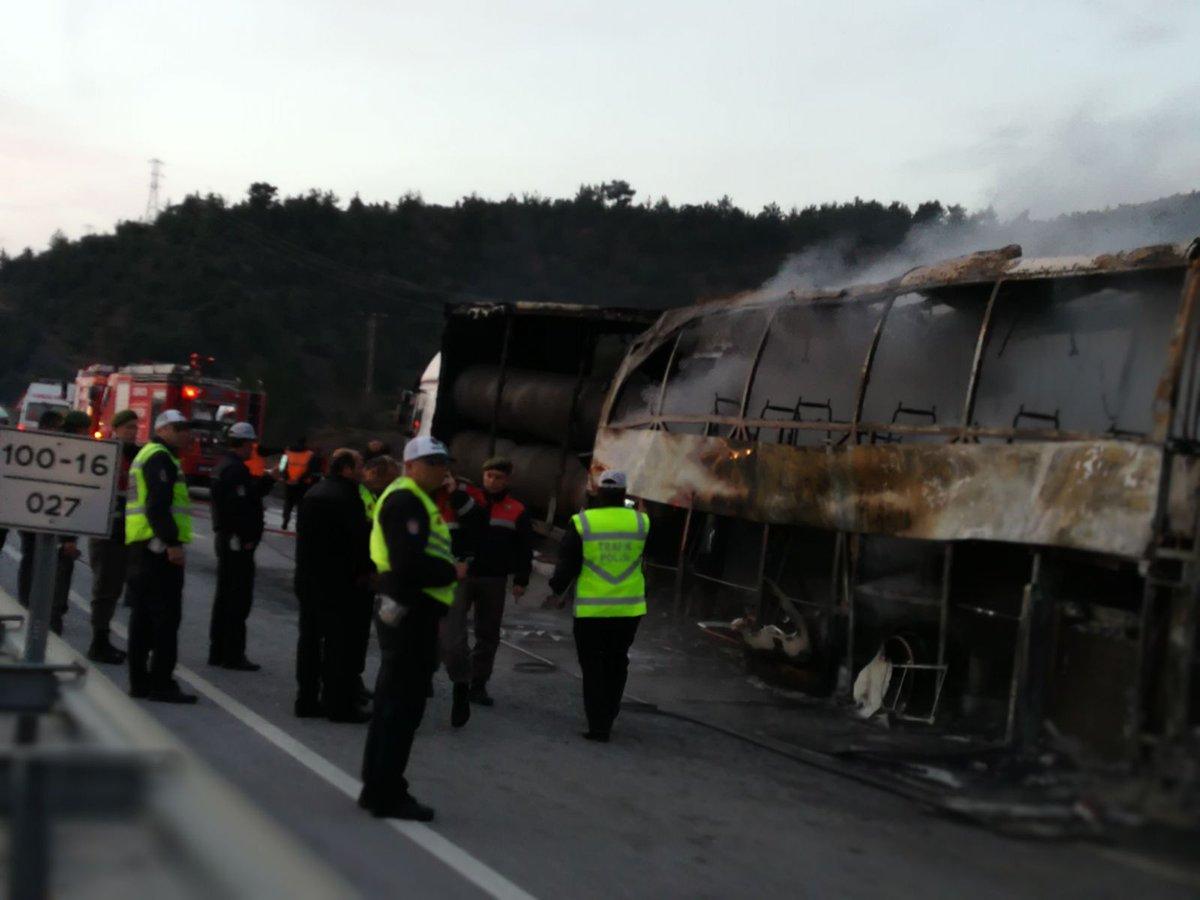 Թուրքիայում ավտոբուսը բախվել է բեռնատարին և ամբողջությամբ այրվել. կան զոհեր և վիրավորներ