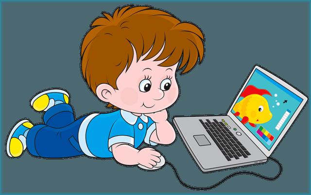 Картинка ребенок у компьютера