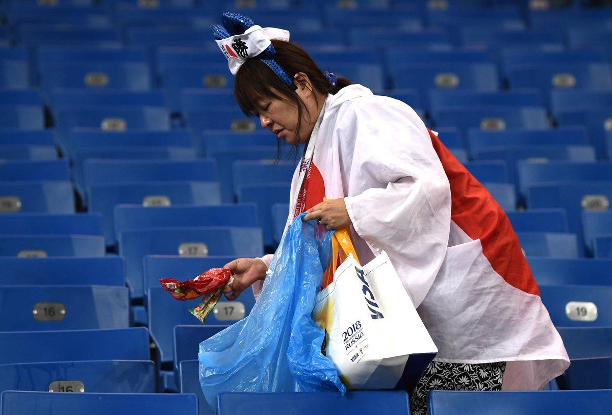 Ճապոնացի երկրպագուներն իրենց հետևից հավաքել են աղբը Ռոստով-Արենայում