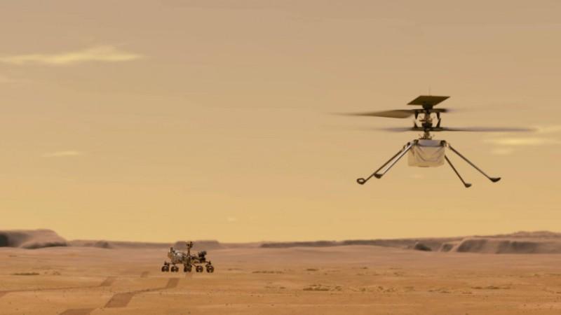 Պատմության մեջ առաջին անգամ Մարսում ուղղաթիռ է օդ բարձրացվել