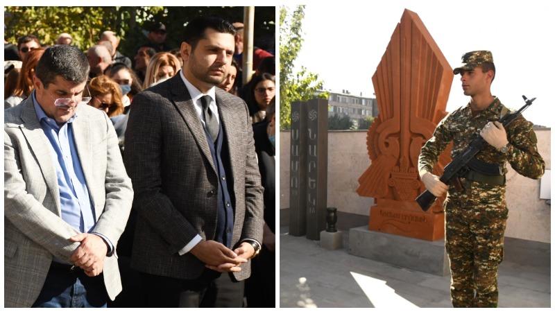 Արմավիրի մարզպետն ու ԱՀ նախագահը  ներկա են գտնվել Արցախյան 44-օրյա պատերազմում հերոսաբար զոհված եղբայրներ Նարեկ և Սամվել Ղազարյանների հիշատակին նվիրված հուշարձանի բացմանը