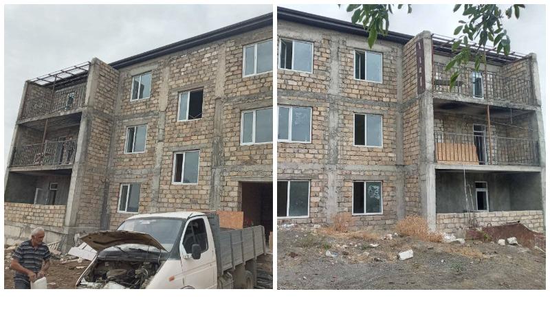 ԱՀ Մարտունու շրջանի Ճարտար քաղաքում շարունակվում են եռահարկ բնակելի շենքի շինարարական աշխատանքները