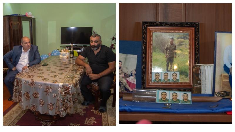 Տավուշի մարզպետն այցելել է 44-օրյա պատերազմում զոհված Գրիշա Ազատյանի ընտանիքին. ծնվել է հերոսի եղբայրը