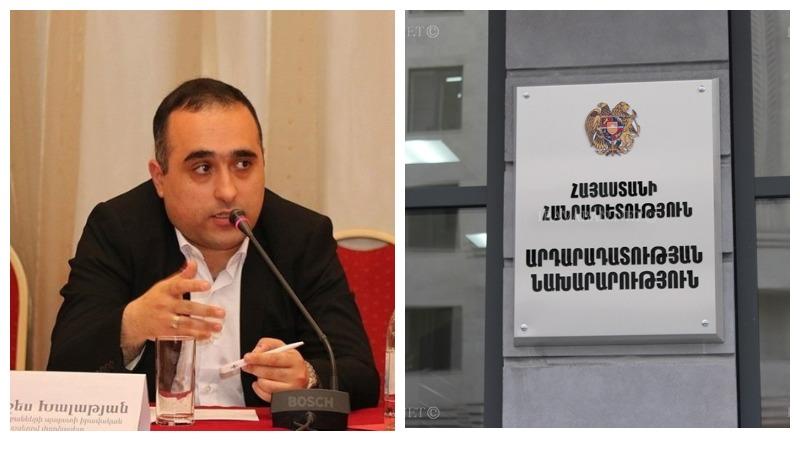 Արդարադատության նախարարի հրամանով Արտաշես Խալաթյանը նշանակվել է ՔԿԱԳ պետ