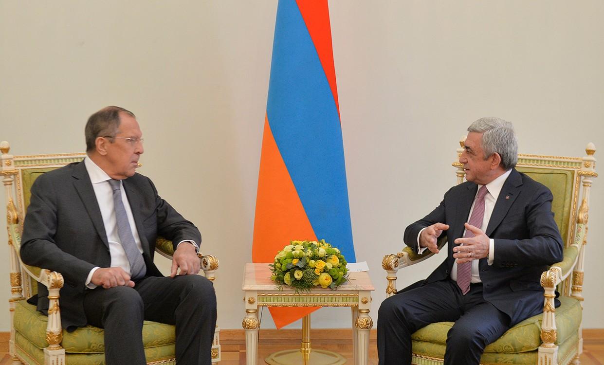 Այսօր հայ-ռուսական հարաբերությունները բնութագրվում են իրապես դաշնակցային. Սերժ Սարգսյանն ընդունել է Սերգեյ Լավրովին
