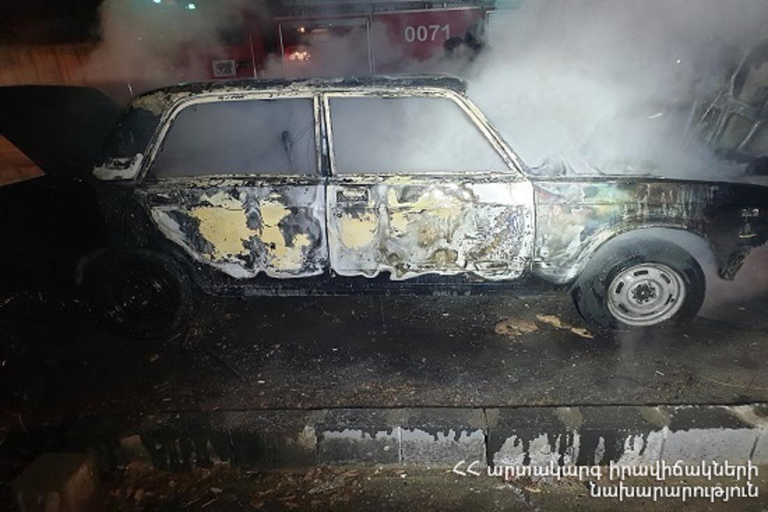Քասախ գյուղում մեքենան ամբողջովին այրվել է. տուժածներ չկան