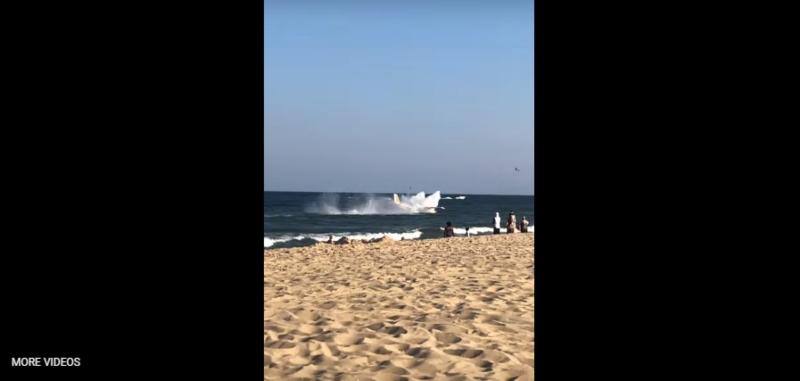 Համացանցում է հայտնվել օվիկանոսում վթարային վայրէջք կատարած ինքնաթիռի տեսանյութը