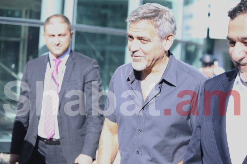 Ջորջ Քլունին ժամանեց Հայաստան (լուսանկարներ)