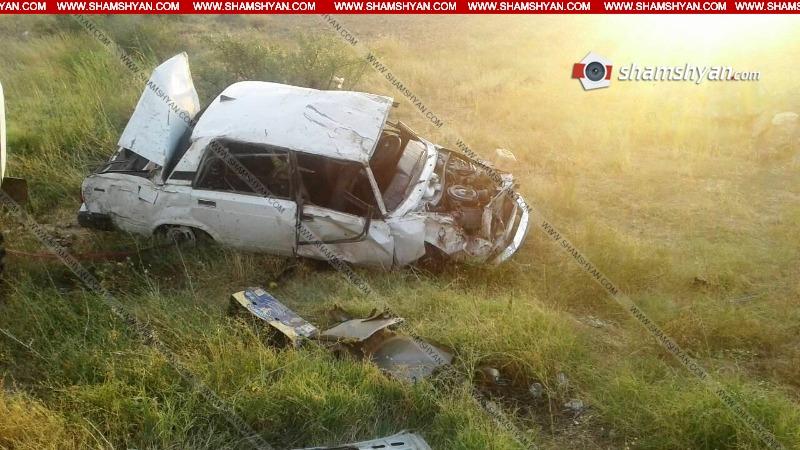 Ավտովթար Արագածոտնի մարզում. 35–ամյա վարորդը 07-ով բախվել է քարերին ու կողաշրջվել. կան վիրավորներ